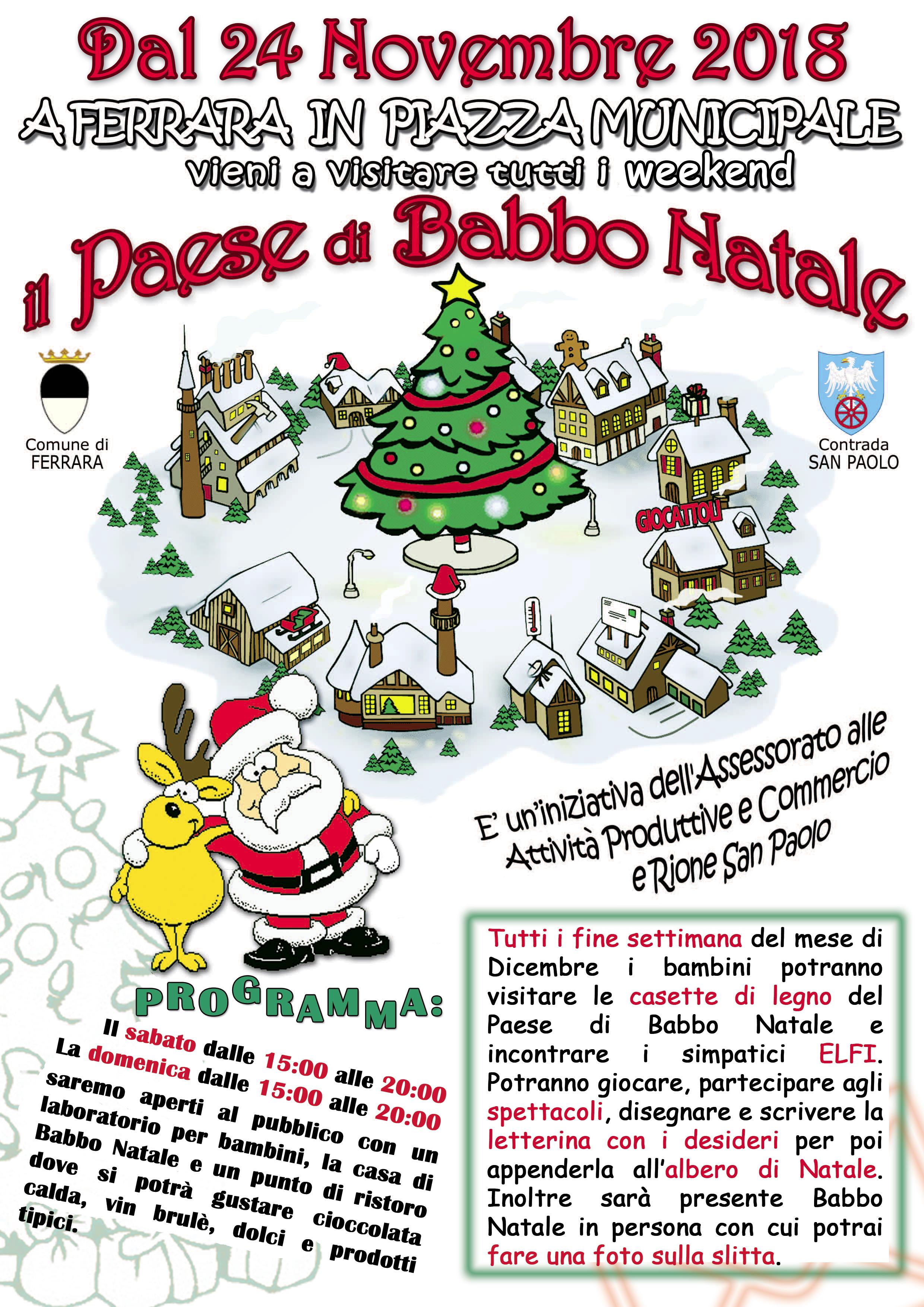 Babbo Natale 8 Gallery.Il Paese Di Babbo Natale Contrada Rione San Paolo